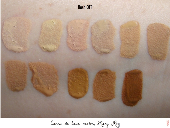 Cores de bases Mary Kay| NND.164