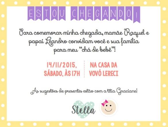 Convite Chá Stella